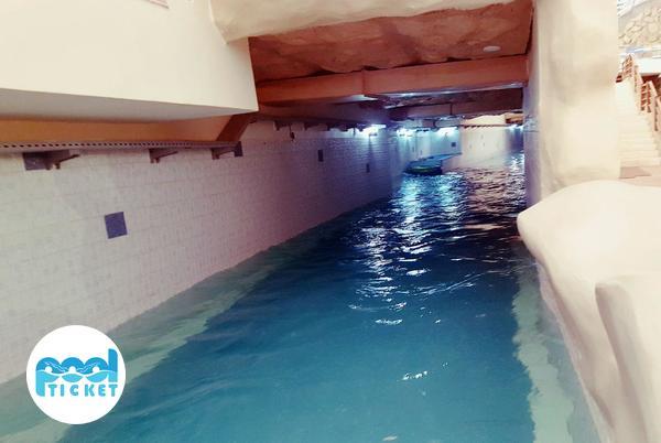 تونل آب سرد پارک آبی آب و تاب قم