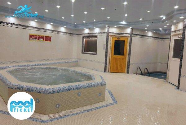 جکوزی و حوضچه آب سرد استخر یاران - پول تیکت مرکز خرید بلیط استخرهای قم